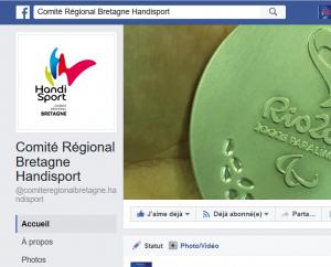 Site Facebook Comité Handisport Bretagne